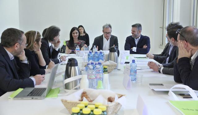 Da destra: Mirti, Leder, Lops, Encinar, De Tommaso, Palasciano, Segalerba, Cioffi, Rossi