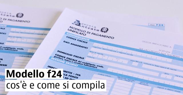 F24 CON ELEMENTI IDENTIFICATIVI SCARICARE