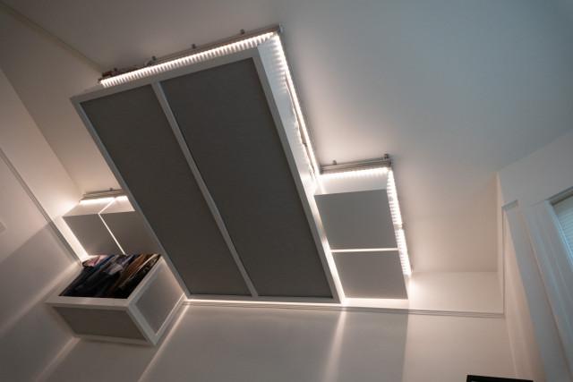 Immagine  - L'ingegnosa maniera di risparmiare spazio in casa: collocare i mobili e il letto sul tetto