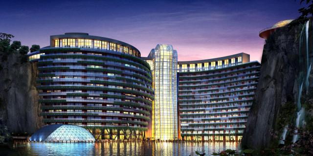 Immagine  - In Cina sorge il primo hotel di lusso sotterraneo