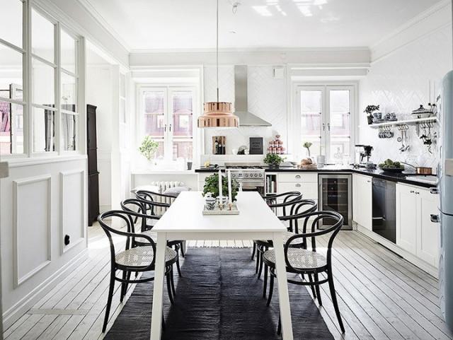 Immagine  - idee per arredare una cucina bianca