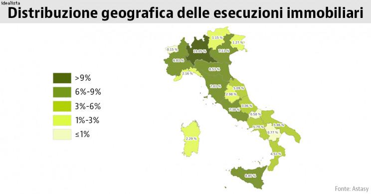 mappa esecuzioni immobiliari
