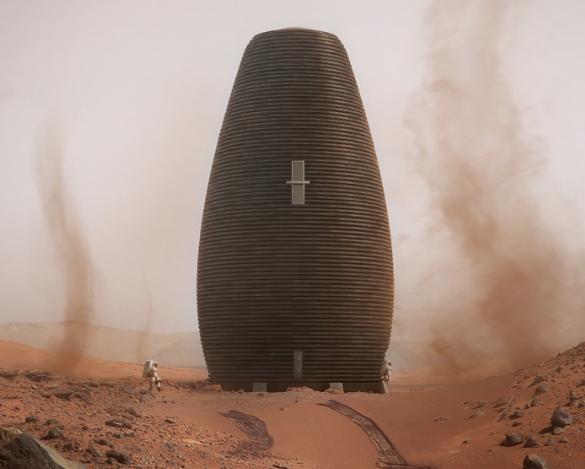 La casa pensata per essere stampata in 3D su Marte
