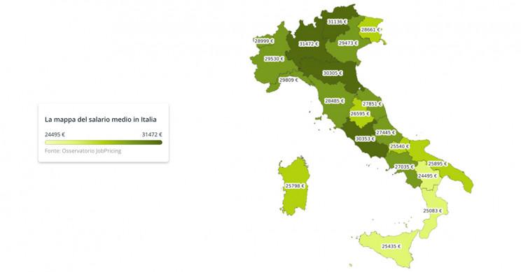 Immagine  - Stipendio medio in Italia, scopri la mappa delle regioni