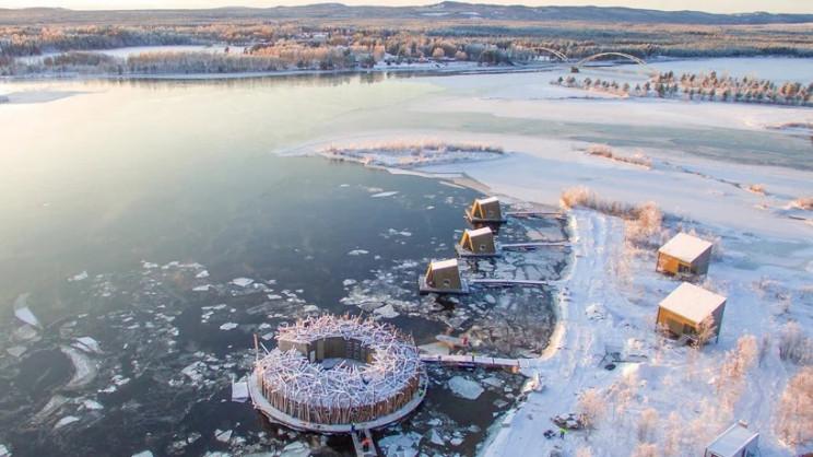 Vista aerea delle installazioni / Arctic Bath/Anders Blomqvist/Pasquale Baseotto/Johan Jansson