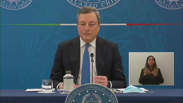 ##Covid, Draghi: dal 26 si inizia a riaprire, ? un rischio ragionato